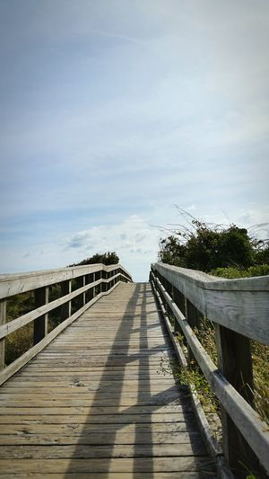 BoardwalkThe Way Forward Walking Around Taking Pictures Rampwalk Sky Boardwalk Wrightsville Beach Beach Photography Taking Photos