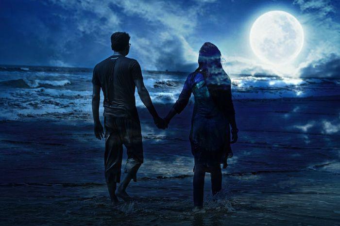 Sea Beachphotography Beach Two People Romantic Blue First Eyeem Photo