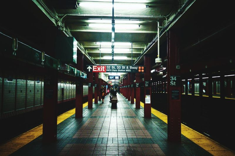 Architecture Subway Subway Station Mta NYC Built Structure Multi Colored Technology Building Exterior Architecture Brooklyn New York City Onepluslife Smartphonephotography Oneplus2 Oneplusphotography Underground Underground Station  Ntrain City Modern Minimalism Simplicity Dark Grimey