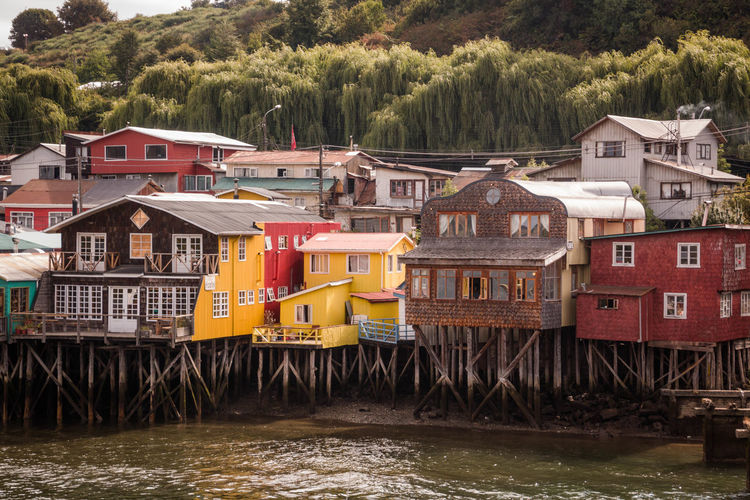 Colorful Stilt Houses