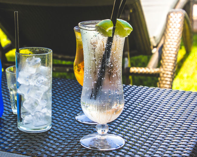 Ice Cube Close-up Day Drink Drinking Glass Food Food And Drink Freshness Healthy Eating No People Outdoors Refreshment Table Water
