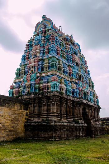 15th Century Architecture Gopuram Emerald Nataraja Monumental Tower Sacred Shiva Tamilnadu Temple EyeEmNewHere