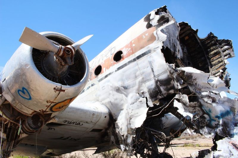 Close-Up Of Abandoned Airplane
