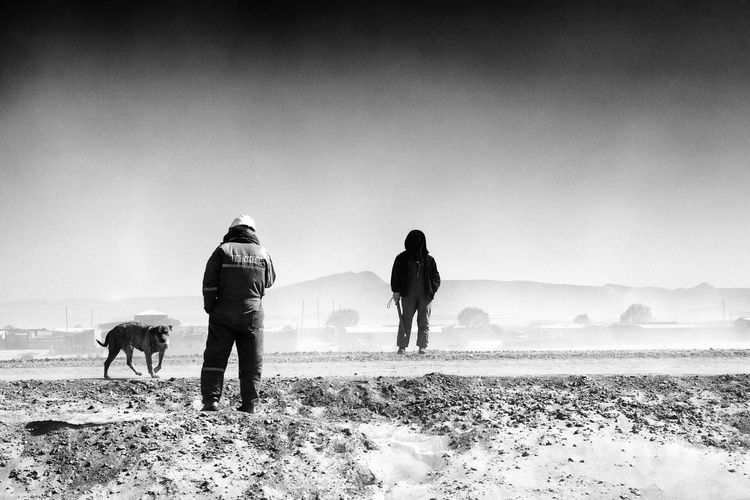 Black & White Photography Black And White Day Lifestyles Outdoors Sky Uyuni Wind Windy Day Workers