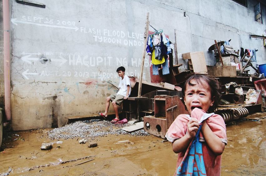 Children are very unfortunate victims of natural disasters. In this case repeated flooding through the years. The Photojournalist - 2016 EyeEm Awards Eyeem Philippines The Photojournalist 2016 Finalists