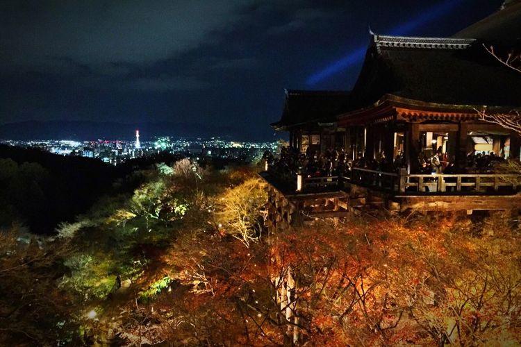 Travel Traveling World Kyoto Japan Kiyomizu-dera KiyomizuTemple Temple Shrine Beautiful Architecture Illumination Night Night Lights Festival Must Must Visit Places Must See Landscapes With WhiteWall Ultimate Japan