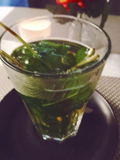 Enjoying a Mint Tea