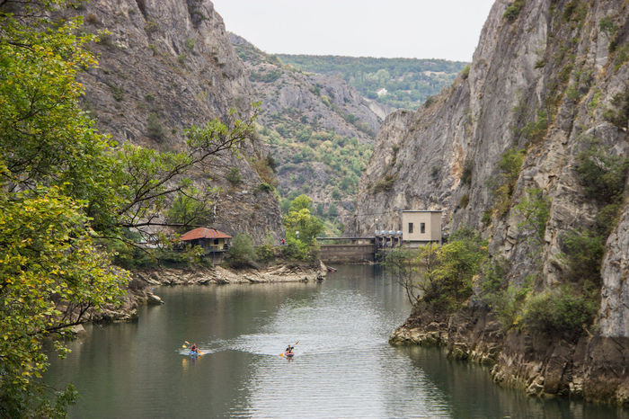 beautiful Matka lake near Skopje Holiday Nature Animal Themes Architecture Beauty In Nature Building Exterior Built Structure Canyon Cliff Day Lake Lake View Mountain Nature No People Outdoors River Scenics Sky Summer Tranquil Scene Tranquility Travel Destinations Tree Water