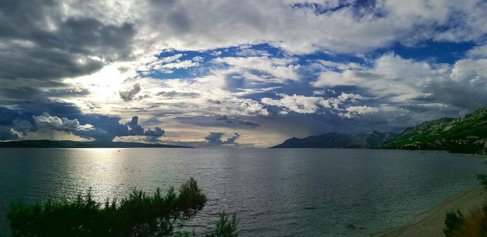 Baska Voda Brela  Croatia Weather Clouds Sea HuaweiP9