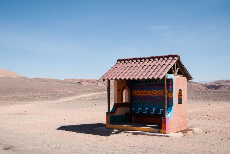 Lifeguard hut on desert