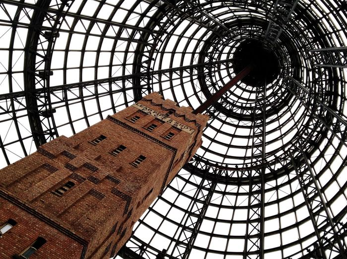 Shot Tower Shot Tower Central Melbourne Architecture Up Brick Factory Industry Low Angle View Indoors  Built Structure Architecture Day No People Sky