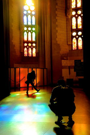 Dark Illuminated Lifestyles Rainbow Colors Sagrada Familia Shadows Shadows & Lights Take Picture