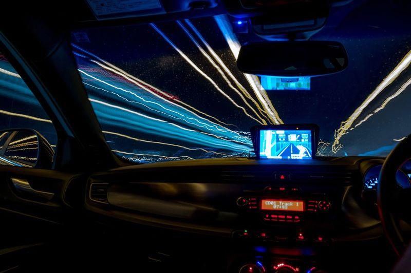 Welcome To Black Night Illuminated Transportation Car City Car Interior Long Exposure Driving Light Trail Japan Alfa Romeo Giulietta Alfa Romeo Giulietta Quadrifoglio Velde