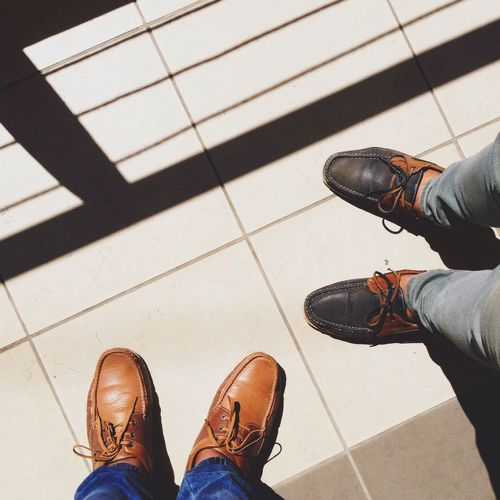 A Bird's Eye View High Angle View Person Shoe Low Section Standing Personal Perspective Men Footwear Lifestyles Casual Clothing Human Foot Day Person Person Visual Creativity The Modern Professional