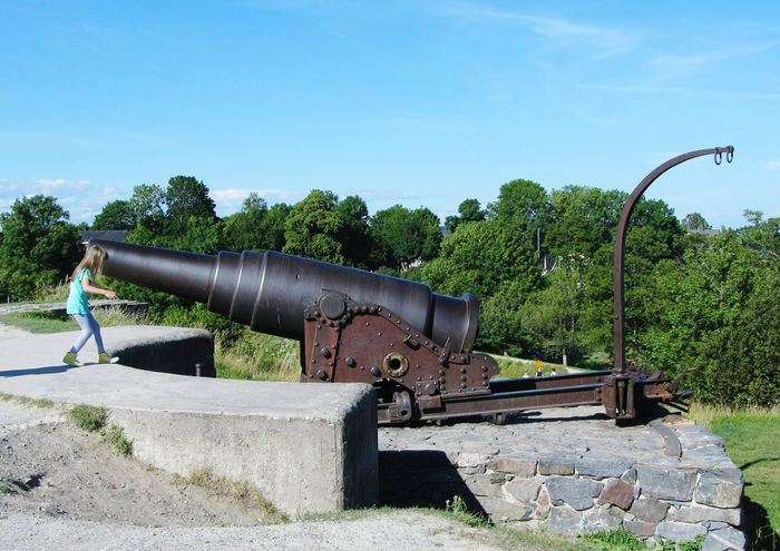 Guns for kids Russian Cannon Suomenlinna Finland Helsinki Cannon Playing