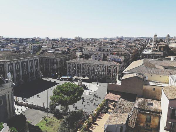 Outdoors Day Sky No People Taking Photos Morning Cityscape Catania, Sicily Piazza Duomo Di Catania City