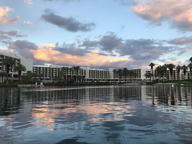 Dusk Sky Tranquil Scene Palm Desert, CA Calmness Water Reflections Dusk Colors Vacation