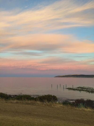 Sky Sunset Beauty In Nature Nature No People Tranquil Scene Outdoors Scenics Tranquility Grass Water Cloud - Sky Sea Day Australia Travel