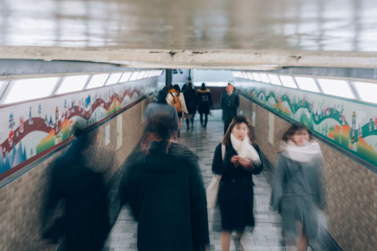Subway Subway Station Subway Platform Underground Underground Walkway Shootermag Group Of People Real People Motion Architecture Blurred Motion Walking Women Lifestyles People Adult Transportation Men Crowd Day City High Angle View Leisure Activity Built Structure City Life Outdoors