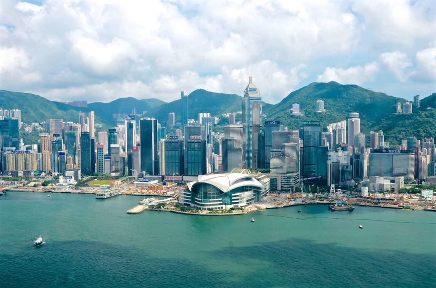 Hong Kong Island. By SONY A7R ASIA City Cityscape Hong Kong Architecture Building Exterior Built Structure City Cityscape Day Helecopter Helecopter Photograph Modern Mountain Nature No People Outdoors Sea Sky Skyscraper Water Waterfront The Graphic City