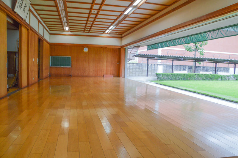 Kyudo Budohall At The Kyoto Budocenter Japan Japanese  Martial Arts Bow And Arrow Budo Budohall Dojo Indoors  Kyudo Kyudou No People