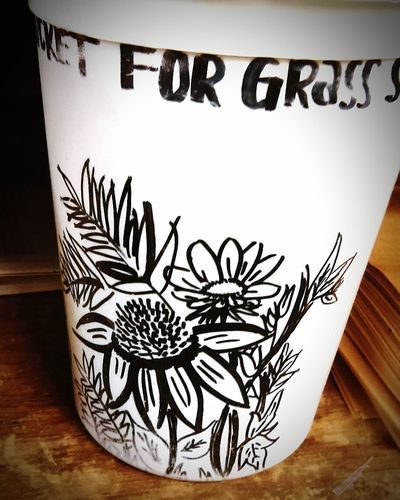 Bucket Doodles Doodling Flowers Sharpie Permanent Marker Bored