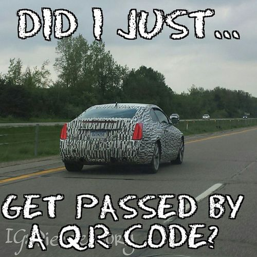 Seriously. ...I kinda want to know what happens when you scan it. lol Qr PaintJob Car