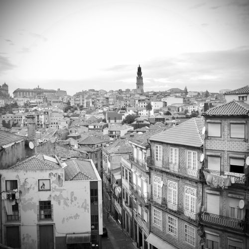 BeW City Cityscape Oporto, Portugal Apartment Architecture Black And White Building Building Exterior Built Structure City City Life Cityscape Cloud - Sky Community Crowd Crowded Day High Angle View Monochrome Nature Outdoors Residential District Roof Settlement Sky Town TOWNSCAPE