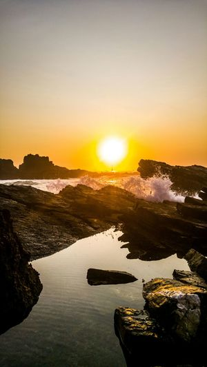 Portugal Tranquility Beauty In Nature Nature Horizon Over Water Sun Almograve Beach Beach Perfection Sea Sunset Water Outdoors Day Costaalentejana