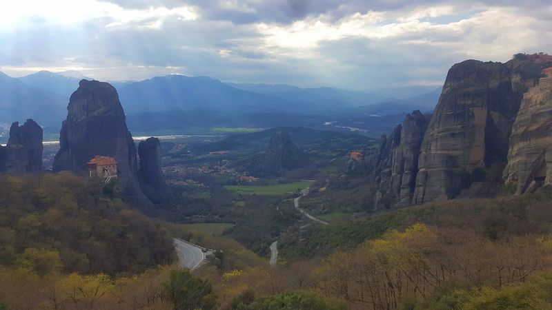 The Meteora Monasteries, Kalampaka, Greece Cloud GREECE ♥♥ Greece, Crete Mountain View Beauty In Nature Cloud - Sky Clouds And Sky Day Greece Kalampáka Mountain Mountain Range Mountains Nature No People Outdoors Scenics Sky Tranquil Scene Tranquility