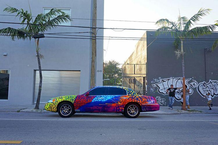 Streetart Graffiti Marko93 Wynwood Miami Wynwood Art Graffitioncar Miami Car Lincoln Painting