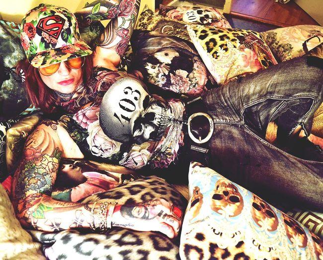 Oneteaspoon Tattoos Tattooedwomen Tattoomodels Vanasch Fabric Vanasch Cushions Vanasch Clothes EyeEmNewHere