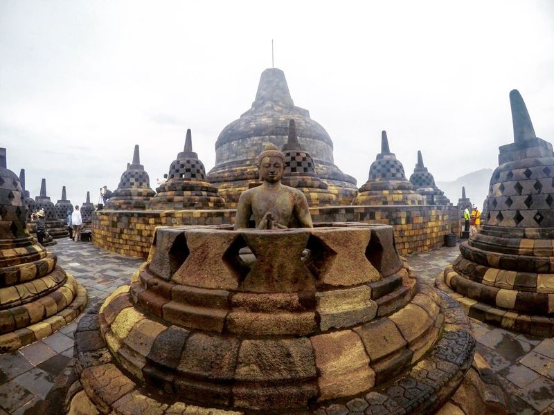 Borobudur Borobudur Temple Borobudur Temple, Indonesia Yogyakarta Jogja Yogyakarta, Indonesia Religion Spirituality Place Of Worship Travel Destinations Architecture Building Exterior Built Structure Outdoors Sky Clear Sky Day No People Nature