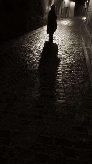 Caped Man Lonely Street Mystery MysteryStreet Night Night Photography Street Suburb