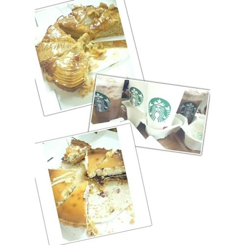 Show time!!!!! Relaxing Starbucks Applepie Buleberry Tart Family