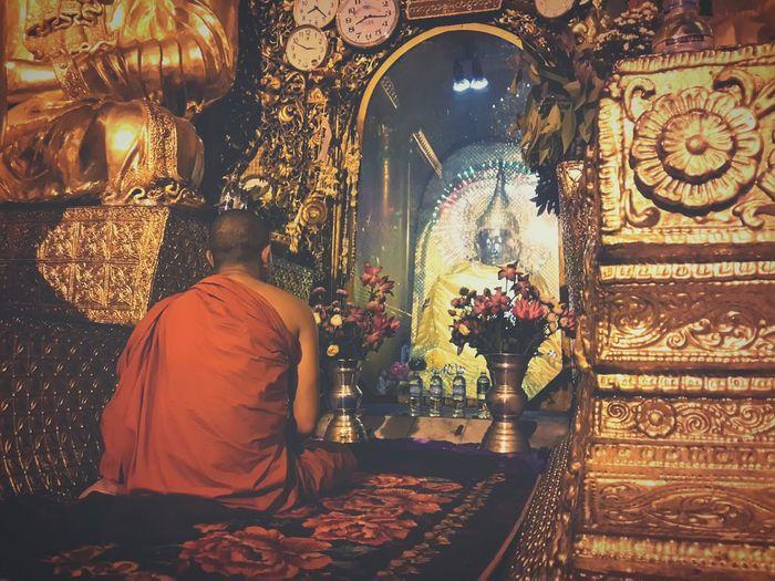 Pagoda Monk  Buddha Dhama Peace Praying Myanmar Buddhism Buddha Statue Meanings True Compassion