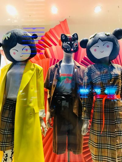 storefront Representation Human Representation Art And Craft Creativity Male Likeness Retail  No People Store Multi Colored Indoors  Female Likeness Choice Toy For Sale Mammal Clothing Retail Display Variation Craft