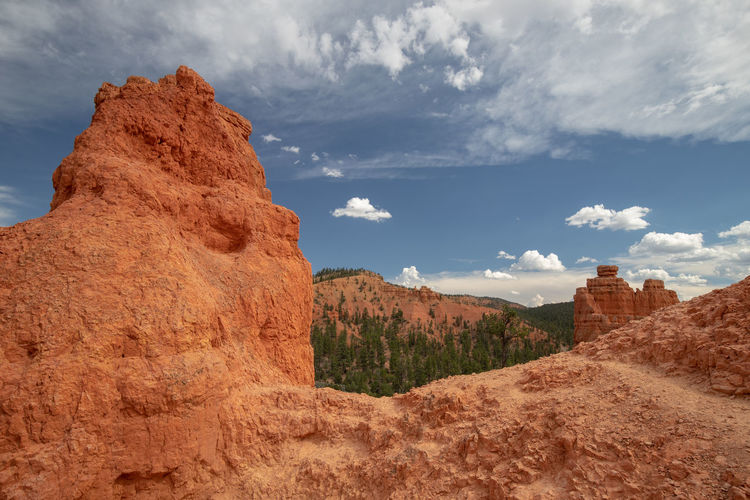 Red Canyon in Utah, USA - the smaller brother of the world famous Bryce Canyon Cloud - Sky Sky Non-urban Scene Beauty In Nature Scenics - Nature Nature Tranquil Scene Tranquility Red Canyon Red Canyon State Park, Utah USA National Park Rock Formation Mountain Rock - Object Environment Geology Travel Physical Geography Travel Destinations Eroded Arid Climate Climate Formation Sandstone