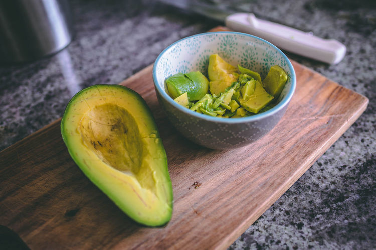 An avocado in a