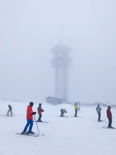 Ski Ski Cold Temperature Winter Group Of People Snow Real People Travel Destinations Tourism