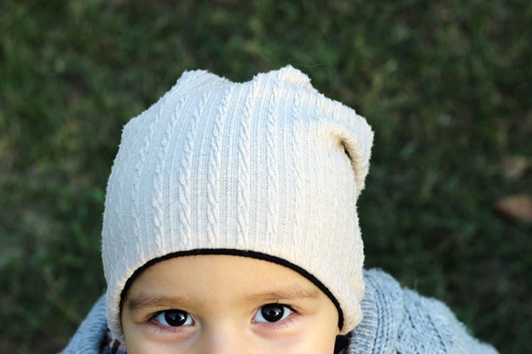 Cropped Image Of Boy In Knit Hat