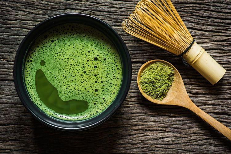 Matcha green tea Matcha Green Tea Tea Powder Raw Hot Drink Japan Zen Matcha Tea Green Color Food And Drink Tea Freshness Indoors  Directly Above Still Life Wood - Material Green Tea Food Bowl Drink Hot Drink Table