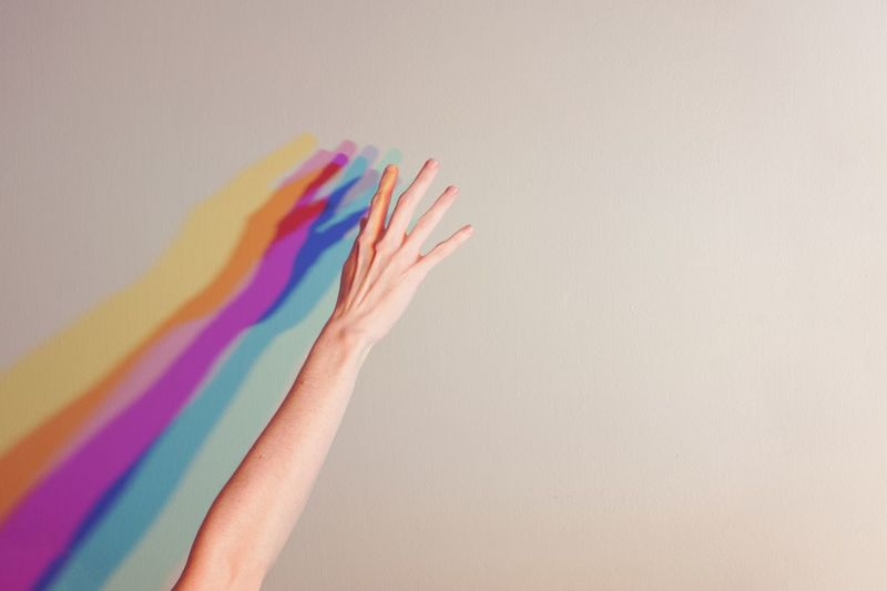 Michelangelo Multi Colored Indoors  Creativity Hand Human Body Part Human Hand Rainbow Variation Studio Shot Vibrant Color Spectrum Finger Body Part One Person