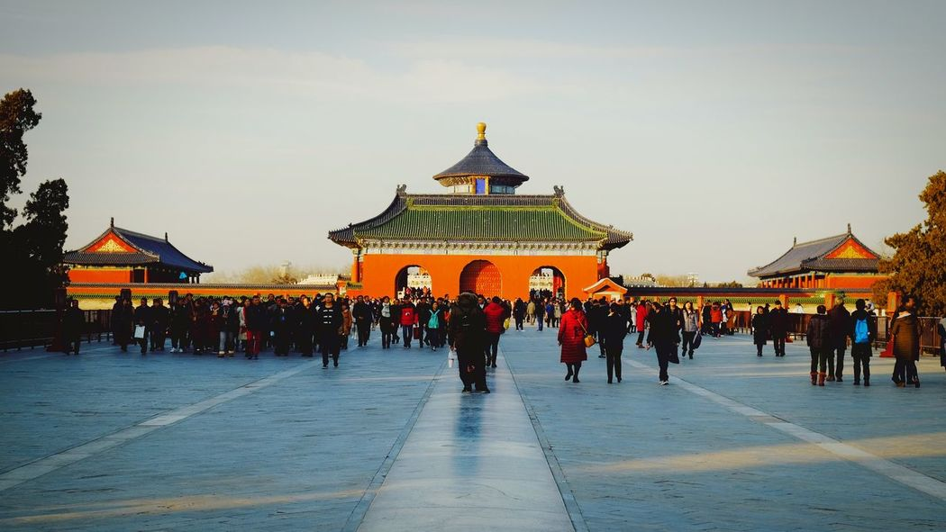 Large Group Of People Travel Destinations History Architecture People Outdoors Sunset Sky City Cityscape Gate Tourism King - Royal Person Light And Shadow Cloud - Sky Old Building  Warm Winter Temple Of Heaven Park FUJIFILM X-T10 Old Architecture Beijing, China Traditional Building China Culture Traditional Architecture Architecture