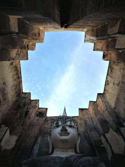 Lookingup Looking Up No People Architecture Day Symmetry Sky Concentric Built Structure Temple Temple In Thailand SriChumTemple Sukhothai, Thailand