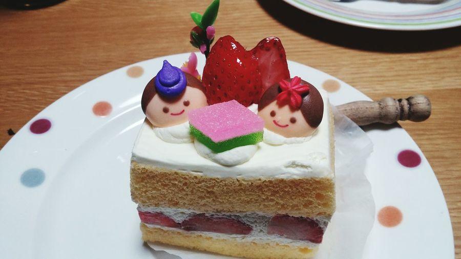お雛様🎎ケーキ🍰 Sweet Food Dessert Ready-to-eat