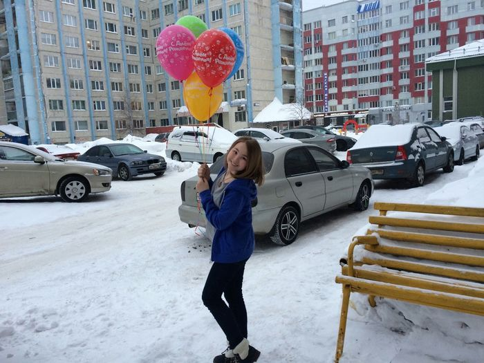 Surgut  Hometown GoodDay❤ Birthday Snow ❄ Lovely Wintertime Happy :) Russia Smile :)