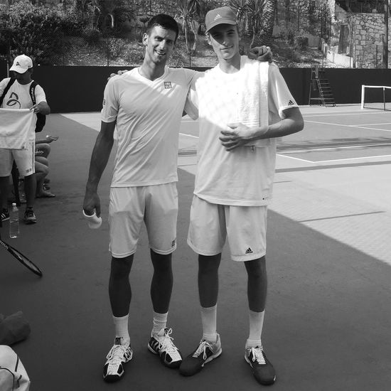 Learning from the best! Novak Djokovic