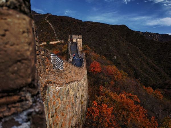 Autumn Chinese History Great Wall Of China History Nature Outdoors Sky Tourism