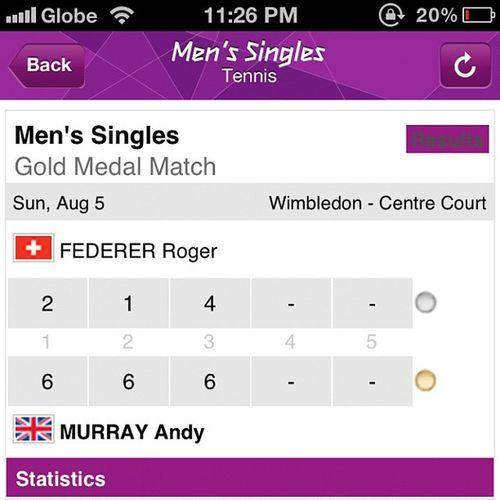 Murray-Gold | Federer-Silver Tennis 2012olympics London Wimbledon federer